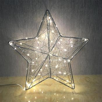 Top Sale Christmas Decoration Wire Star With Lights
