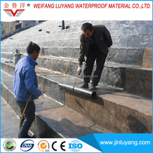 Torch applied modified bituminous waterproofing membrane for terrace
