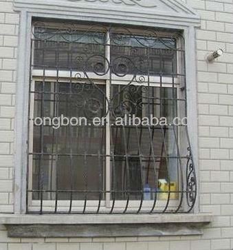 2017 Top-selling newest wrought iron security windows