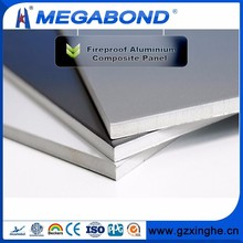 Megabond Aluminum ACP A2 B1 Grade fire rated exterior panels cladding,fireproof wall cladding panel