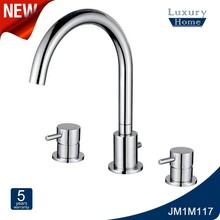 Modern bathroom 3 hole brass wash basin water faucet taps for bath