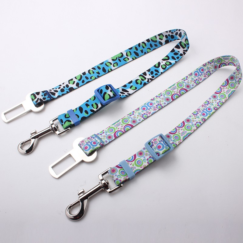 Vogue Adjustable Nylon Pet Car Safety SeatBelt Harness Leash For Dogs