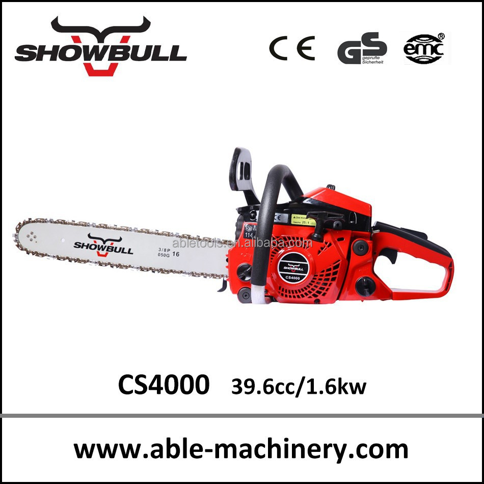 gasoline chainsaw with 39.6cc from professional Chinese chainsaw manufactures