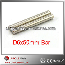 Neodymium N42 D6x50mm Magnetic Bar Cylinder Rod Magnet