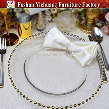 2017 tableware dining clear glass dinner plates for wedding YC239-1