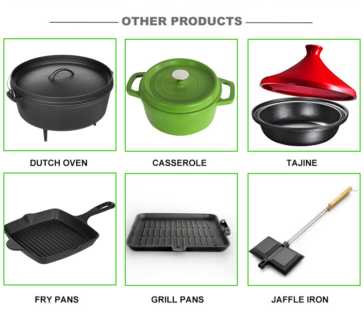 Hot sales vegetable oil cast iron frying pans & skillets