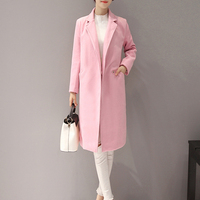 OEM Women's Long Coat Model Office Pink Ladies Coat
