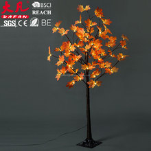 Fashion red decorative artificial maple tree
