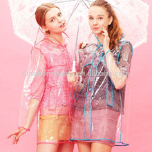 China Factory Women Raincoats, Fashion Transparent Raincoats for Ladies