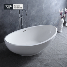 Hotel used artificial stone bathroom bathtub wholesale customized size availabled