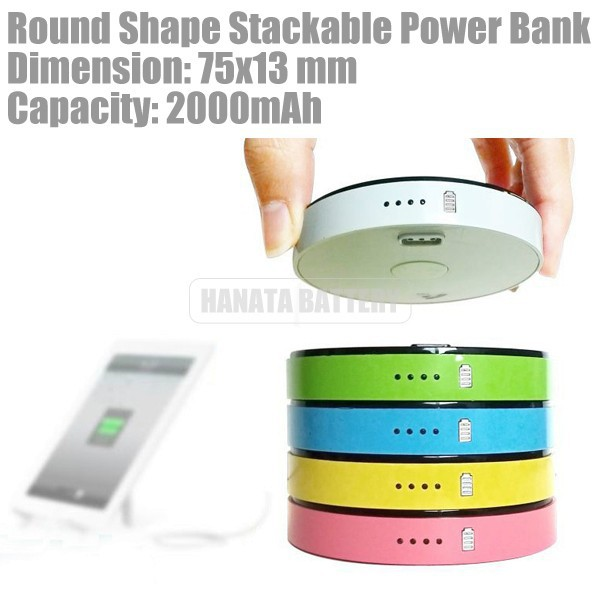 2000mAh Stackable Power Banks (for easy charging) for Smartphones Tablets PSP Made in China