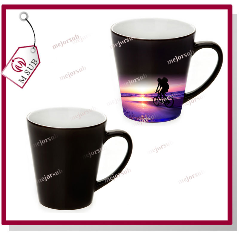 best quality 12oz v-shape sublimation magic mugs for design/photo printing