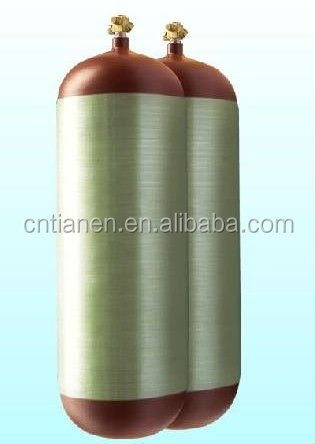 CNG type 2 cylinder, gas cylinder, wrapped fiberglass composite gas cylinder