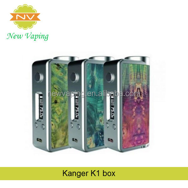 kanger K1 BOX 75W bulid-in evolv DNA-75 with stabilized wood k1box
