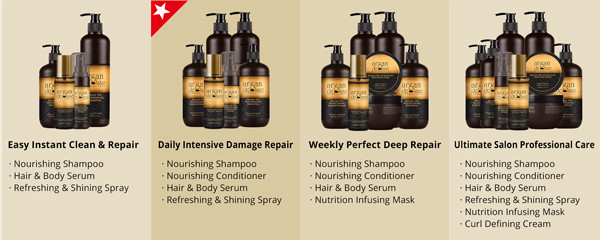 Argan de Luxe Argan Oil Hair Care Products