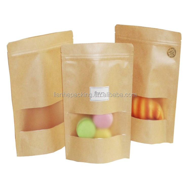 Kraft paper bag/stand up paper bag for nut and fruit