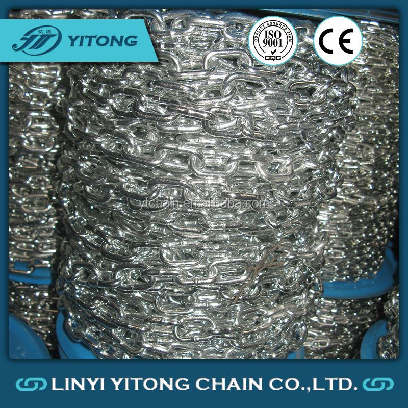 6mm Din5685A Steel Galvanized Short Link Chain
