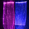 light emitting fabric luminous high light reflective fabric light up high visibility fiber optic fabric