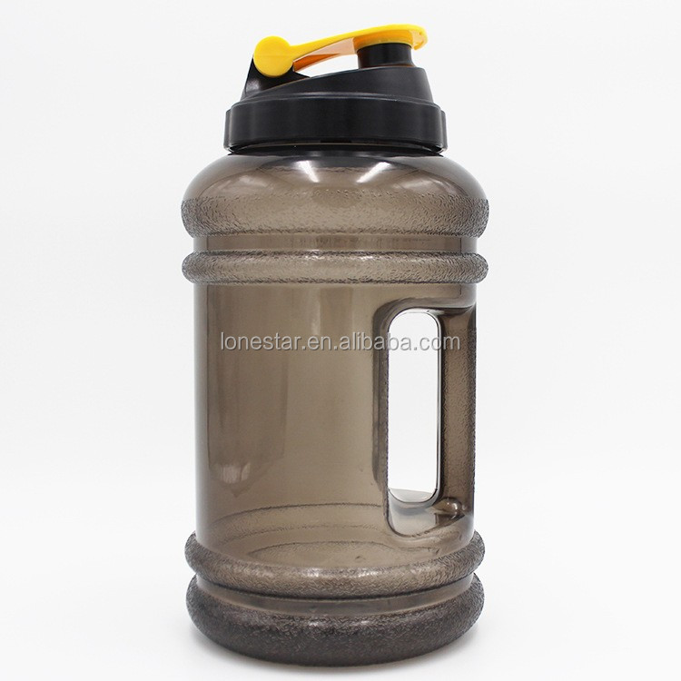 Accept small order custom printed 2.2L BPA free plastic sport water jug bottle with handle for sport