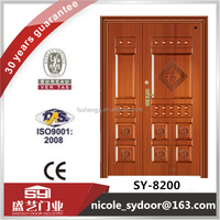Galvanized iron door frame one and half steel security door