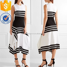 Striped Stretchy Jersey Midi Daily Dresses For Ladies Manufacture Wholesale Fashion Women Apparel (TS0440D)