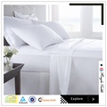 200TC Cotton/polyester cheap hotel and home sabanas bed sheets