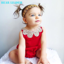 Cotton Pearl Collar Red 60- 95cm baby girls dress designs wholesale uk