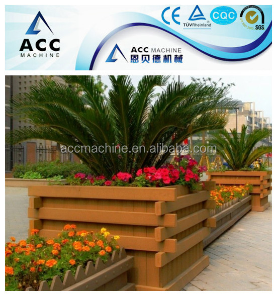 WPC Wood Plastic Garden Decking Railing Extruder Machine