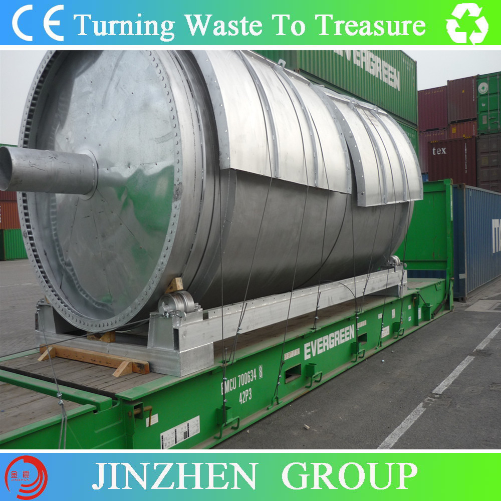 6/ 8/ 10Tons Plastic Recycling/ Waste Tire pyrolysis plant To Diesel Oil Unit For Industrial Fuel