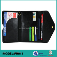 Ever Blue Rfid Blocking flip pu leather passport holder,pu passport case