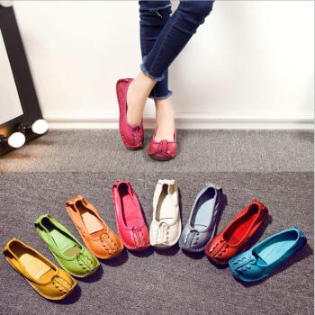 Original Design Of  Soft Sole Hand-Made Cow Leather Flat Women Casual Shoes
