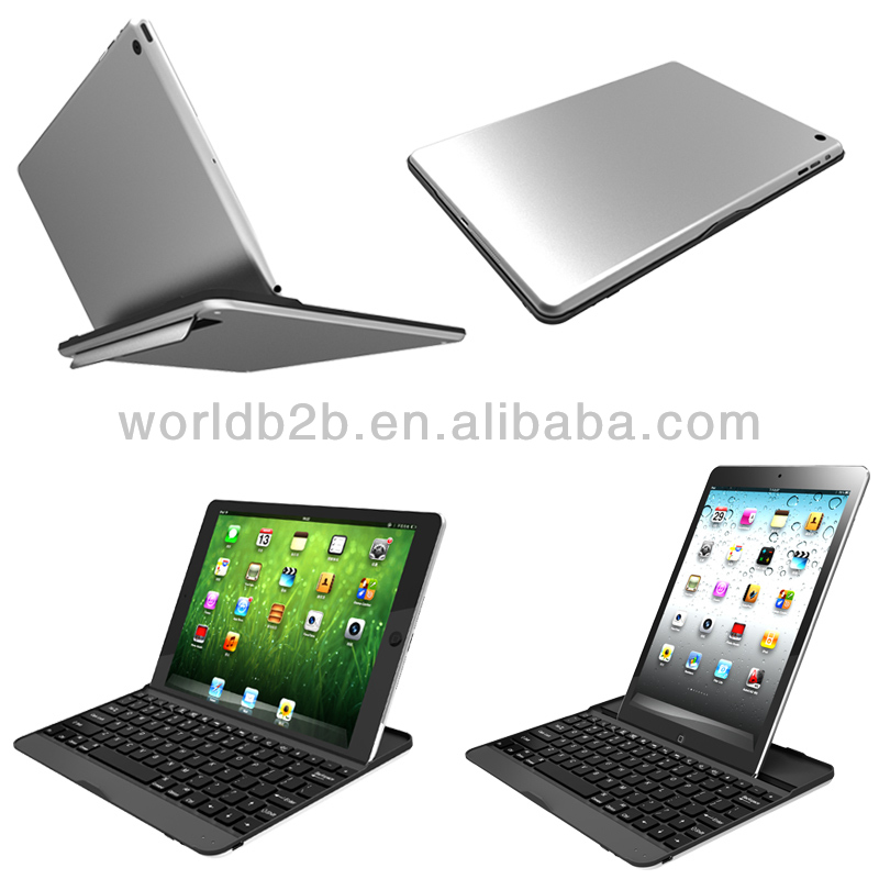 Metal Aluminum Case Wireless Bluetooth Keyboard for Apple iPad Air / iPad 5