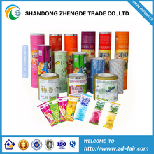 Ice cream packaging film roll food sachet in roll