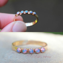 2018 new design jewelry wedding engagement band purple fire opal stone rose gold fashion ring