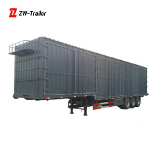 ZW Cargo Dry Food Transport New Box Semi Trailer Van Trailer With Tear