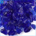 Tumbled Crushed Broken Cobalt Blue Glass Chippings