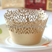 "High Quality Party Supply Wedding Favors! ""Victorian Lace"" Wedding Cupcake Wrappers From Mery Crafts"