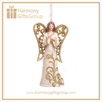 Decorative Home Decoration Angle Statue with Hollow Wings