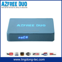 android tv box satellite receiver irdeto AZFREE DUO with decoder