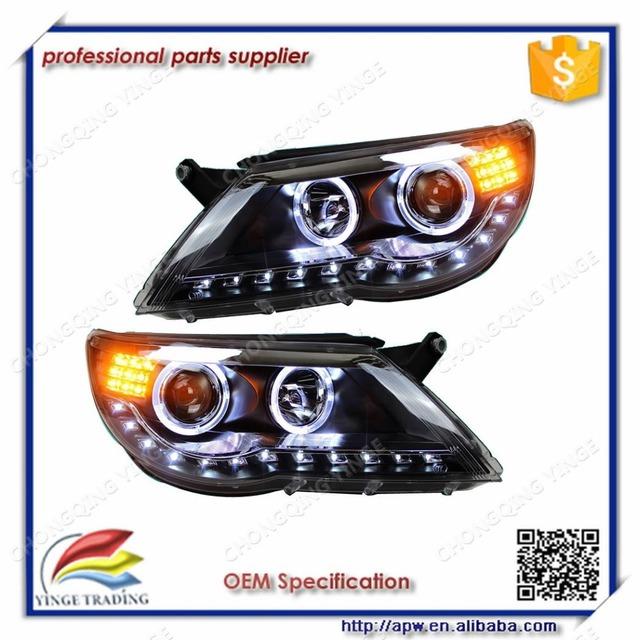 2010-2012 Angle Eye LED Headlamp For V.W Tiguan with LED Strip V1