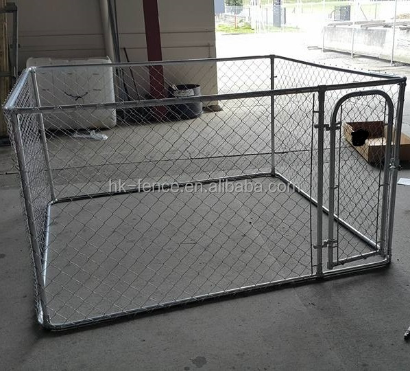 Factory wholesale galvanized wire mesh dog kennel and runs panel/large outdoor dog kennel
