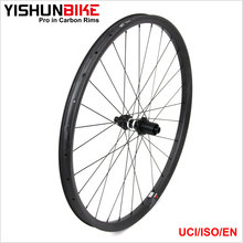 Mountain bike wheel 2017 Yishunbike carbon mtb DT350S offset rim 27.5er tubeless carbon muntain wheel 350S-27.5-33S
