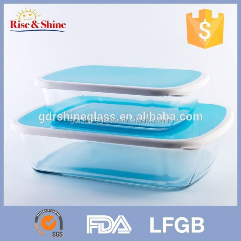 More efficiency than industrial aluminium baking trays Pyrex rectangle glass baking dish with plastic lid