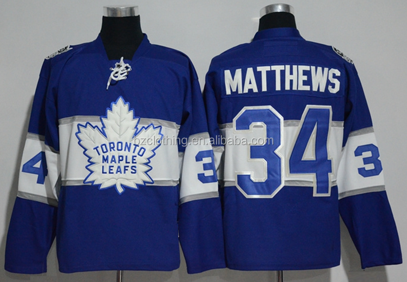Toronto Maple Leaf Heritage Classic 2017 Auston Matthews Blue NHL Hockey Jersey