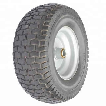 13 Inch 13x5.00-6 Solid PU Rubber Mower Wheel With Bearings