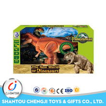 Low price remote control small dinosaur plastic farm animal toy with light