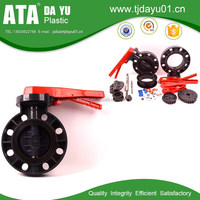 best supplier pvc butterfly valve handle lever type for agriculture equipement