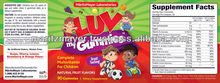 US Manufactured Natural Fruit Flavored Gummies Kids Vitamins