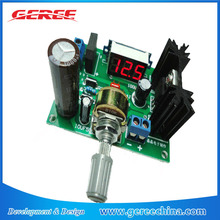 LM317 DC/AC to DC 1.25-30V 2A Adjustable Voltage Regulator Step Down Power Supply Module With LED Meter