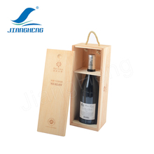 Hot Selling Wood Gift Box Customized Logo Wooden Wine Box